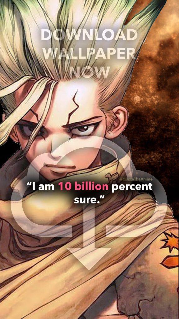 download Senku Wallpaper, Dr. Stone Wallpaper, Senku Ishigami Quotes. '10 billion percent'- Anime wallpaper